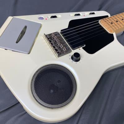 Casio EG-5 Cassette Player Guitar Rare MIJ! 1980's Pearl White for sale