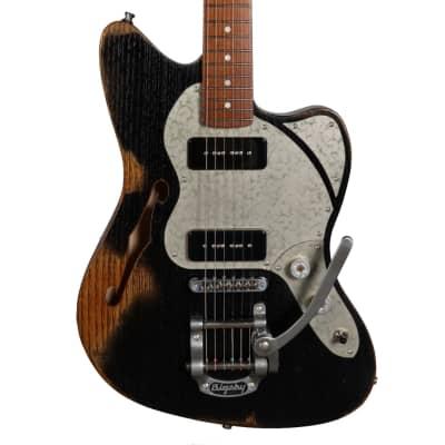 Paoletti Nancy 112 Jazzmaster 2P90 Faded Black  #92520 for sale