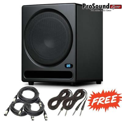 PreSonus Temblor T10 Powered Studio Subwoofer - Free Cables XLR and 1/4