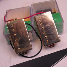 Epiphone Set of Gold Humbuckers with all hardware. 2003.Gold.From a Korean LP Black Beauty.