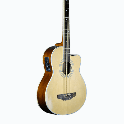 De Rosa GAB475-NT Spurce Top Mahonagy Neck Cutaway 5-String Acoustic-Electric Bass Guitar - Natural for sale