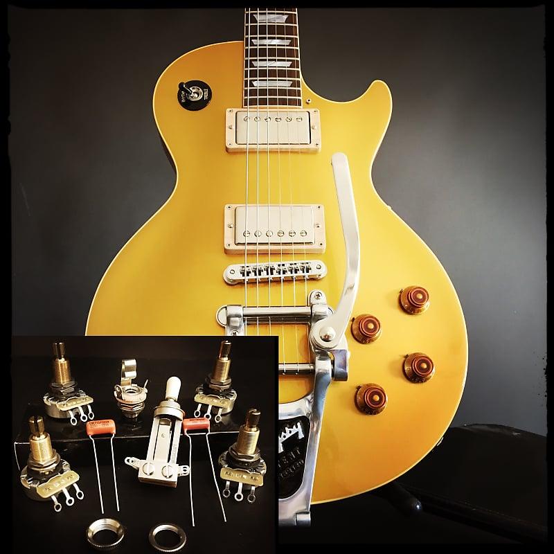 Sidewinder Guitars Les Paul Wiring Kit (Long Frame Toggle / Long Bushing on