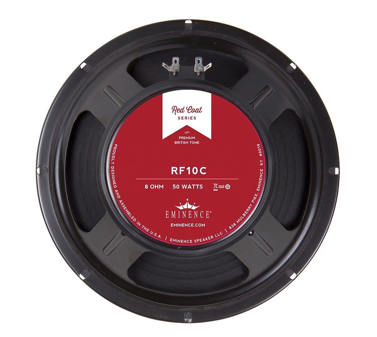 Eminence Rf10c Redcoat Red Fang Guitar Speaker 10 Inch 8