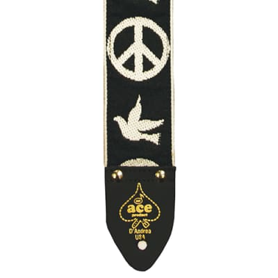 D'Andrea ACE-6 Ace Vintage Reissue Strap; Peace doves for sale