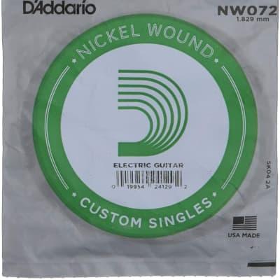 D'Addario NW072 Nickel Wound Single String Electric Guitar
