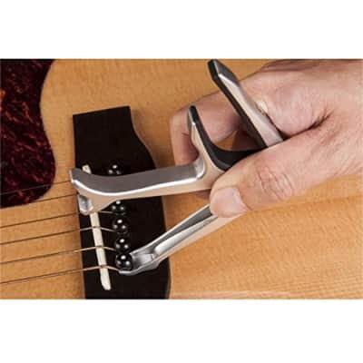 Joyo JCP-02 Opener Guitar Capo Bottle Opener Guitar & Bridge Pin Puller 2017 Silver for sale