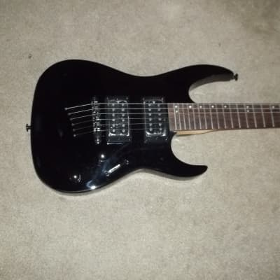 Mitchell MM-100 Short Scale Travel Guitar Black Unused for sale