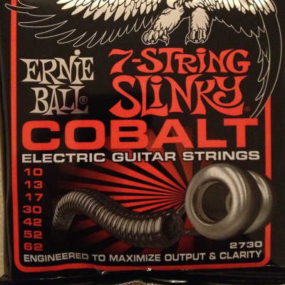 Ernie Ball 2730 COBALT 7-String STHB Slinky Electric Guitar Strings 10-62