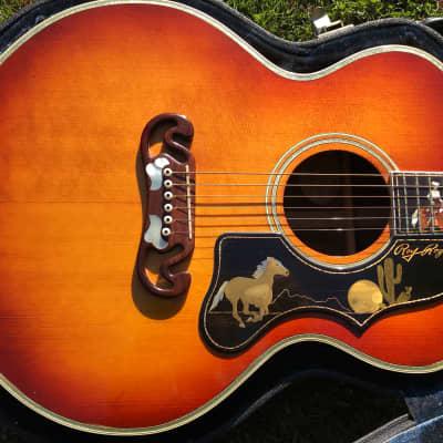 Roy Rogers Tribute Cowboy Art Guitar 1993 Brazilian Rosewood for sale