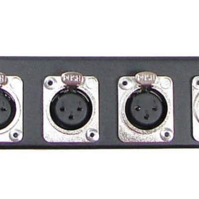 1U Procraft 12 Channel Female D3F Style Procraft XLR Rack Panel   AFP1U-12FS-BK