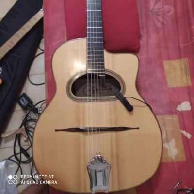 Handmade Gypsy Grande Bouche, French Luthier Huchard + Audio technica At831b for sale