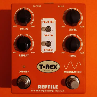 T-Rex Reptile Tape Echo Simulator V1 near mint w/box, manual & catalog