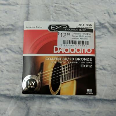 D'Addario 13/56 EXP Coated 80/20 Bronze Medium Acoustic Guitar