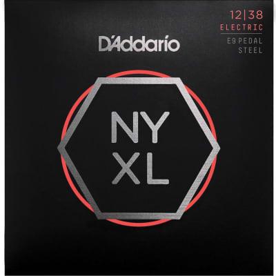 D'Addario NYXL1238PS Nickel Wound E9 Pedal Steel Guitar Strings, Custom Light, 12-38
