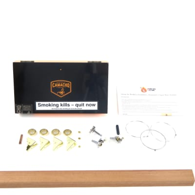 Cigar Box Guitar Kit 3 string Camacho Connecticut Robusto Box, Part and NECK for sale
