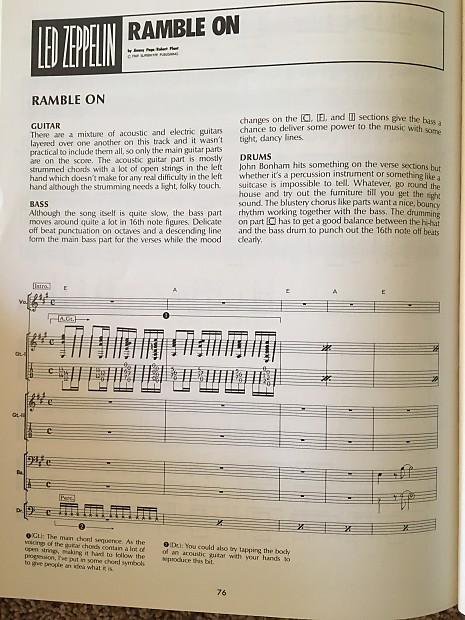 Led Zeppelin - II - Guitar and Bass tab / tablature Book | Reverb