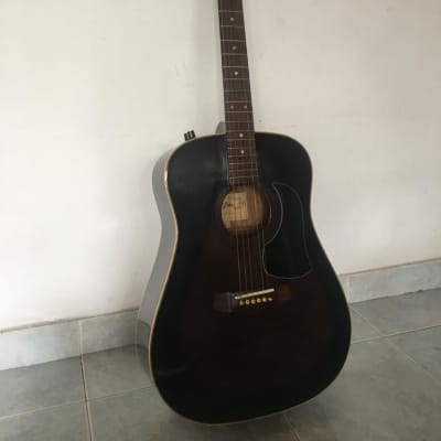 Aria AW 200E Burst 6 String Acoustic Guitar S/N 881100014 for sale