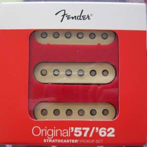 Fender® Original '57/'62 Strat Pickups~USA~Aged White Cover~0992117000~Brand New