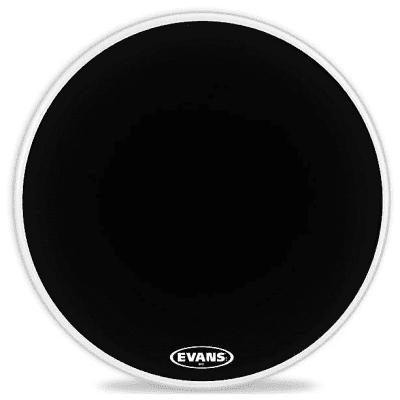 "Evans BD22MX1B MX1 Black Marching Bass Drum Head - 22"""