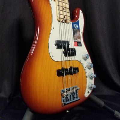 Fender American Elite Precision Bass - Tobacco Sunburst 4-string Electric Bass for sale