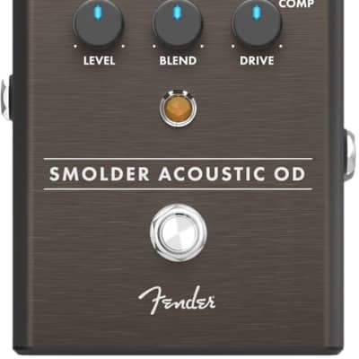 Fender Smolder Acoustic Overdrive Analog Guitar Effects Stomp Box Pedal for sale