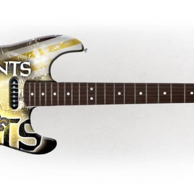 Woodrow New Orleans Saints Northender Rosewood Fingerboard Electric Guitar - NENFL20 - 771831012202 for sale