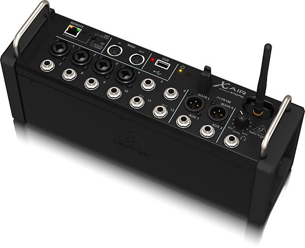 behringer x air xr12 digital live mixer control with ipad reverb. Black Bedroom Furniture Sets. Home Design Ideas