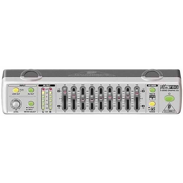 Behringer FBQ800 Ultra Compact 9-Band Graphic Equalizer with FBQ