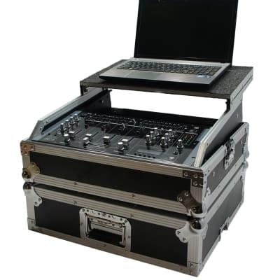"Harmony HC19MIXLT Flight 11U Universal 19"" Mixer Glide Laptop Stand Custom Case"