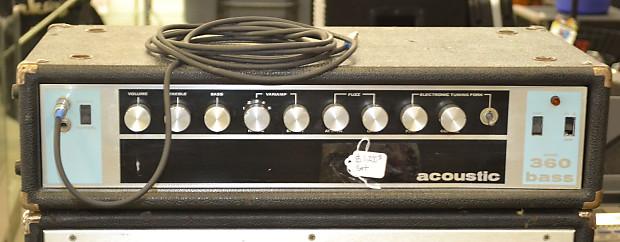Vintage Acoustic 360 Head + 361 Cab Bass Amplifier Amp ...