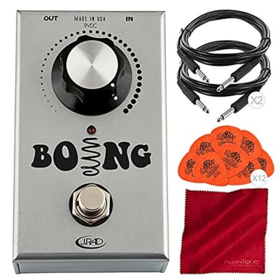 J. Rockett Audio Designs Boing Spring Reverb Effects Pedal Bundled with Guitar P