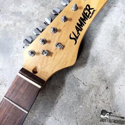 Hamer Slammer Stratocaster Electric Guitar Neck w/ Tuners & String Trees (1990s, Natural)