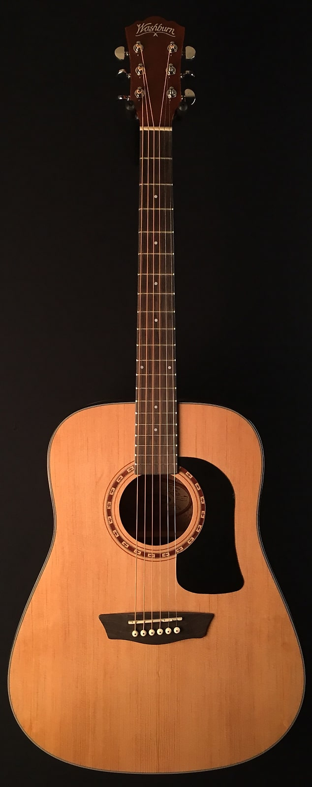 a39b78f5dd Washburn AD5K Apprentice 5 Series Dreadnought Acoustic Guitar w/ Hard Case,  Natural Free Shipping!
