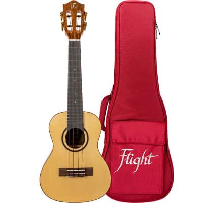 Flight SOPHIATESOUN Princess Series Sophia Tenor Electro-Acoustic Ukulele w/Bag, Soundwave & Pickup