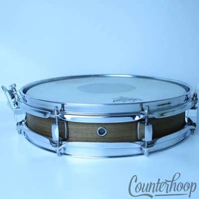 "*Custom 13x3"" Pancake Snare Drum Wood Wrap 8-Lug Popcorn Piccolo Auxiliary Shell"