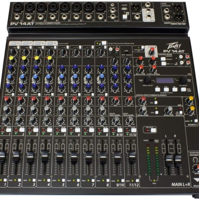 Peavey PV 14 AT 14 Channel Compact Mixer with Bluetooth and Antares Auto-Tune
