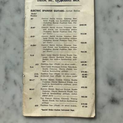 1965 Gibson Price List Vintage Case Candy Collector SG ES335 ES330