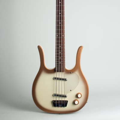 Danelectro  Longhorn Model 4423 Electric Bass Guitar (1966), ser. #5176, brown tolex hard shell case. for sale