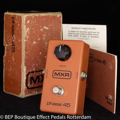 "MXR Phase 45 Block Logo 1980 s/n 5-022200 made in USA as used by the Sex Pistols ""Anarchy in the UK"""