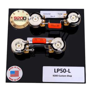 920D Custom Shop LP50-L Les Paul Wiring Harness w/ Orange Drop Caps, Long Shaft CTS Pots