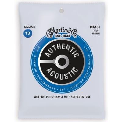 New Martin MA150 Authentic Acoustic SP 80/20 Bronze Guitar Strings, Medium 13-56