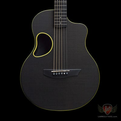 McPherson Kevin Michael Touring Carbon Fiber Guitar - Gloss Top & Yellow Binding (498) for sale