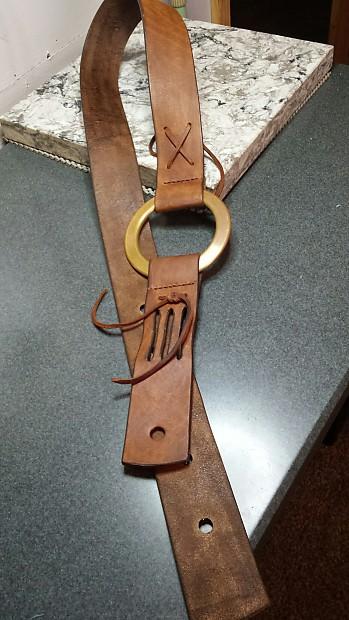 Handmade Leather Guitar Strap Duane Allman Replica Reverb