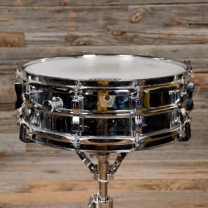 "Ludwig No. 400 Supraphonic 5x14"" Aluminum Snare Drum with Large Chicago Keystone Badge 1984"