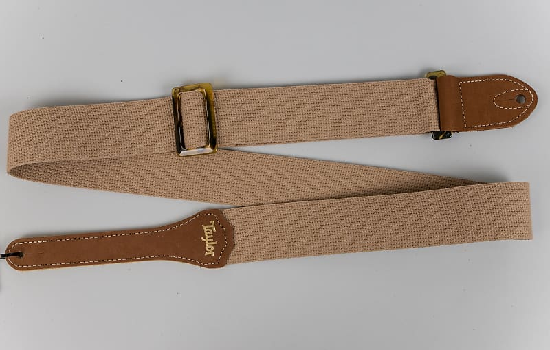 taylor gs mini series tan cotton guitar strap 2 reverb. Black Bedroom Furniture Sets. Home Design Ideas