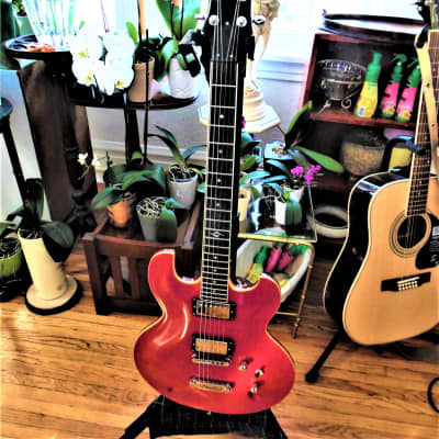DBZ Imperial Trans Red Flame a Dean Zelinski Masterpiece with gig bag