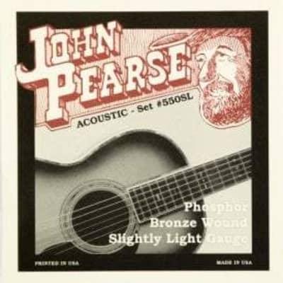 John Pearse 550SL Phosphor Bronze Acoustic Guitar Strings Slightly Light Gauge 11-50