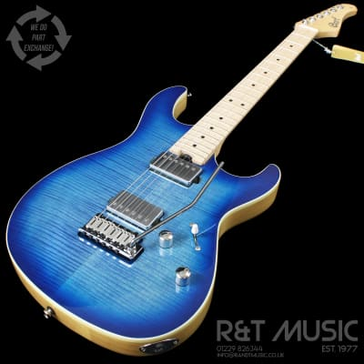 Cort G290 FAT Electric Guitar MN in Bright Blue Burst