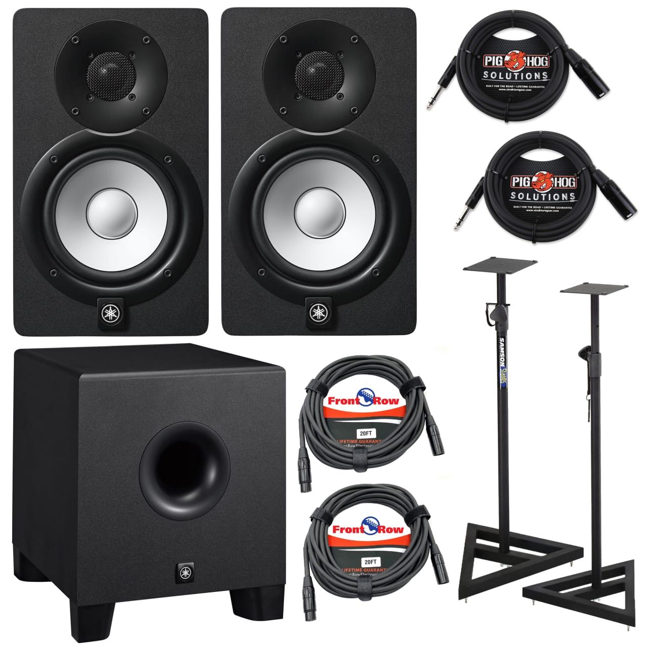 Yamaha Hs Series Hs5 2 Way Studio Monitors Black Pair With Reverb Powered Monitor