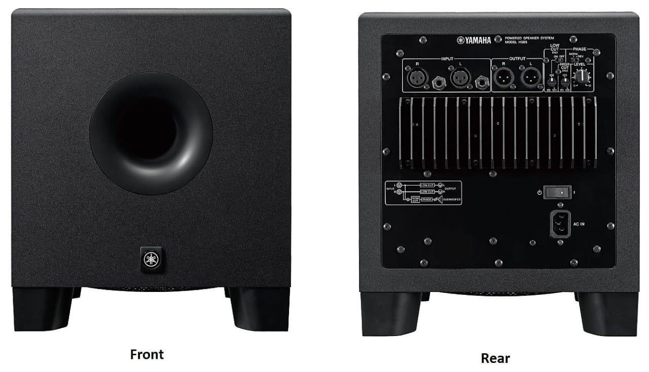 Yamaha hs8s studio monitor powered subwoofer reverb for Yamaha studio subwoofer